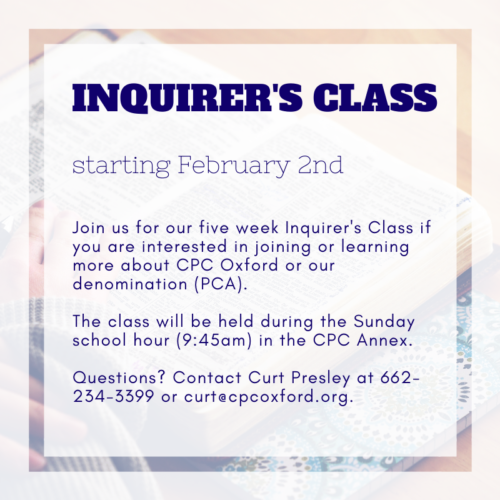 Inquirer's/Communicants Class