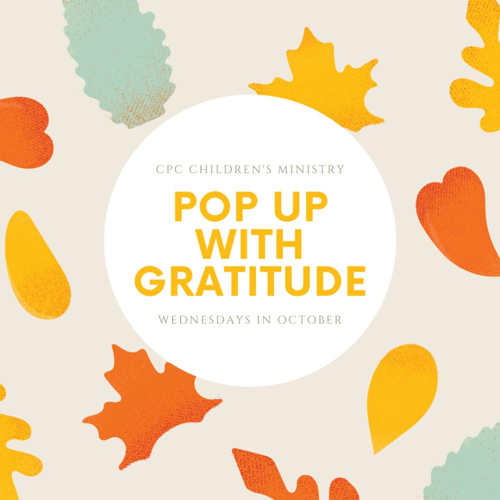 Pop Up With Gratitude